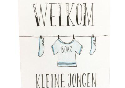 Geboortekaartje: Welkom kleine jongen