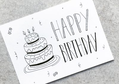 Verjaardagskaart handlettering