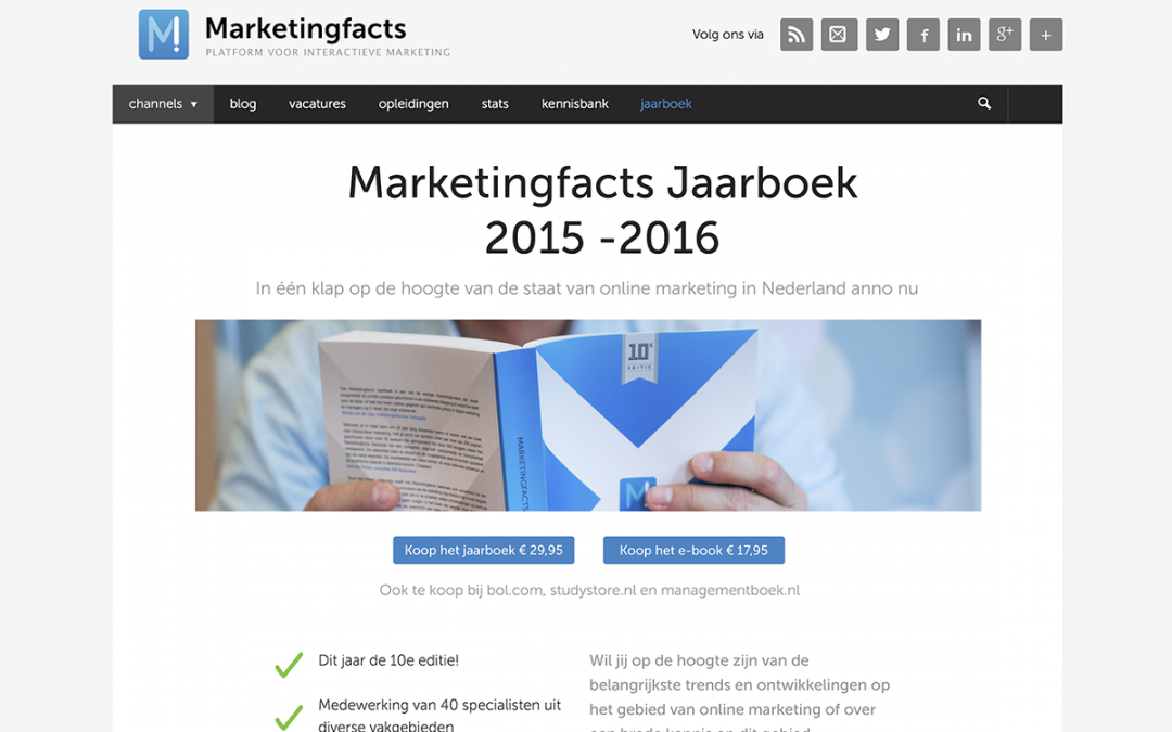 Marketingfacts Jaarboek in higher education